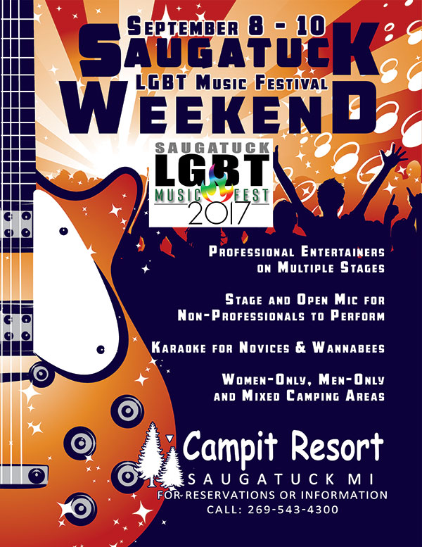 Saugatuck LGBT Music Festival Weekend