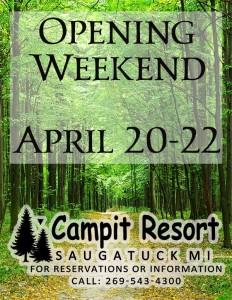 Opening Weekend April 20-22 2018